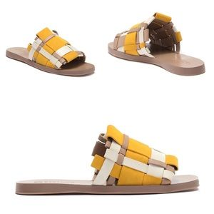 💫🆕 Mercedes Castillo ✪ Color Block Slide Sandals